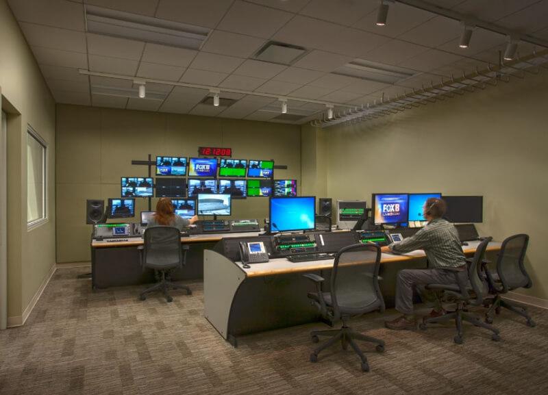 Production control room at Fox 8 studio