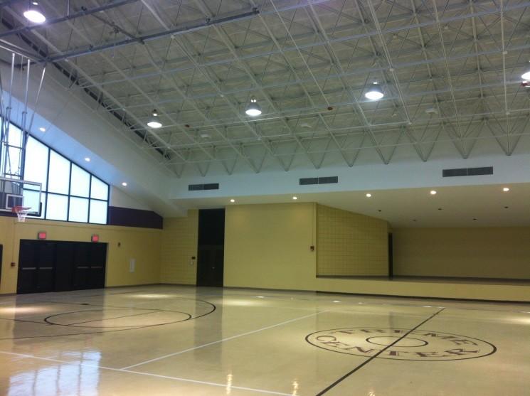 Basketball court at Treme Center