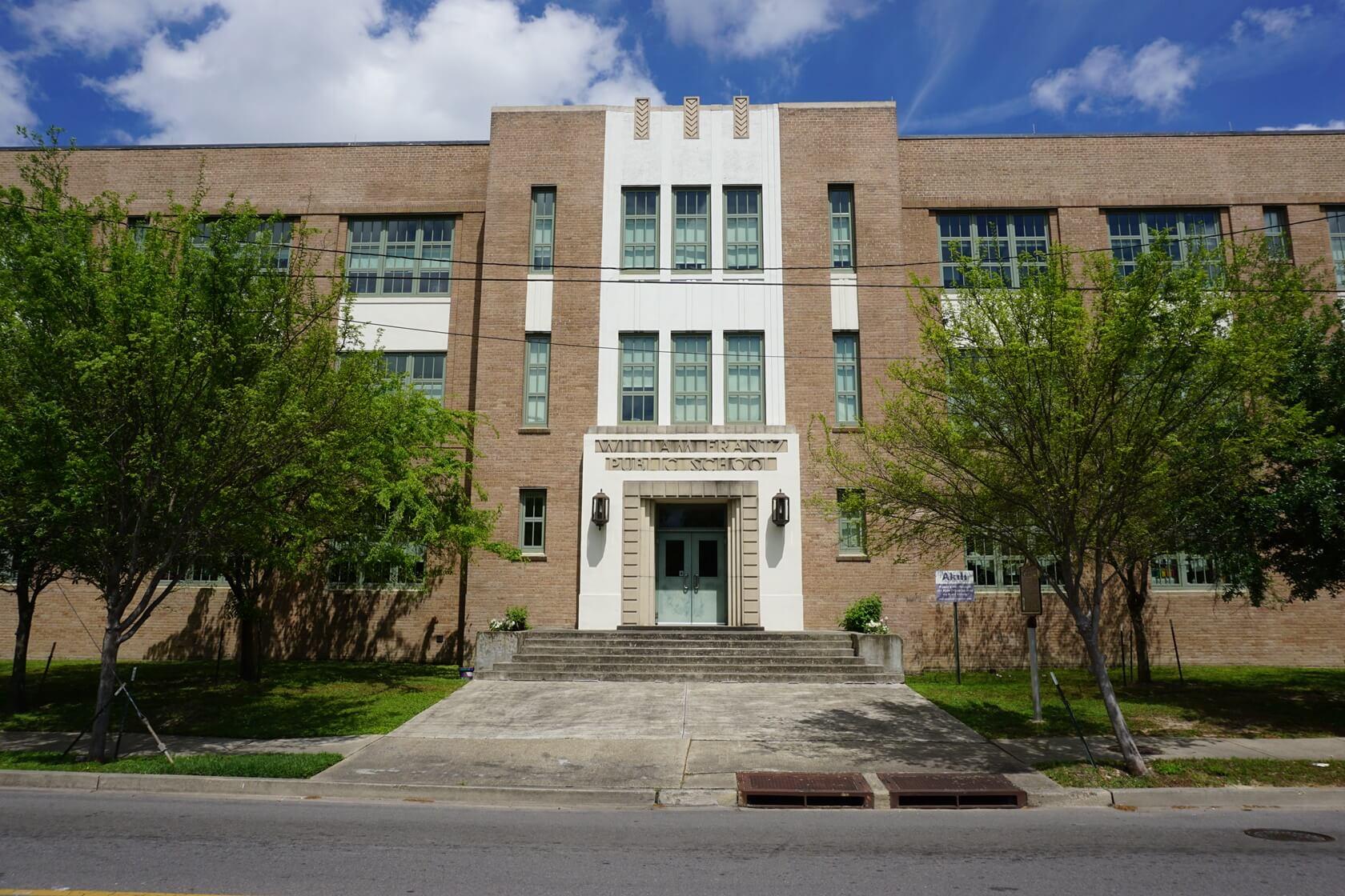 The entrance to William Frantz Elementary School