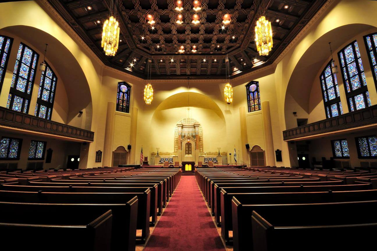 Completed Temple Sinai Lighting Project