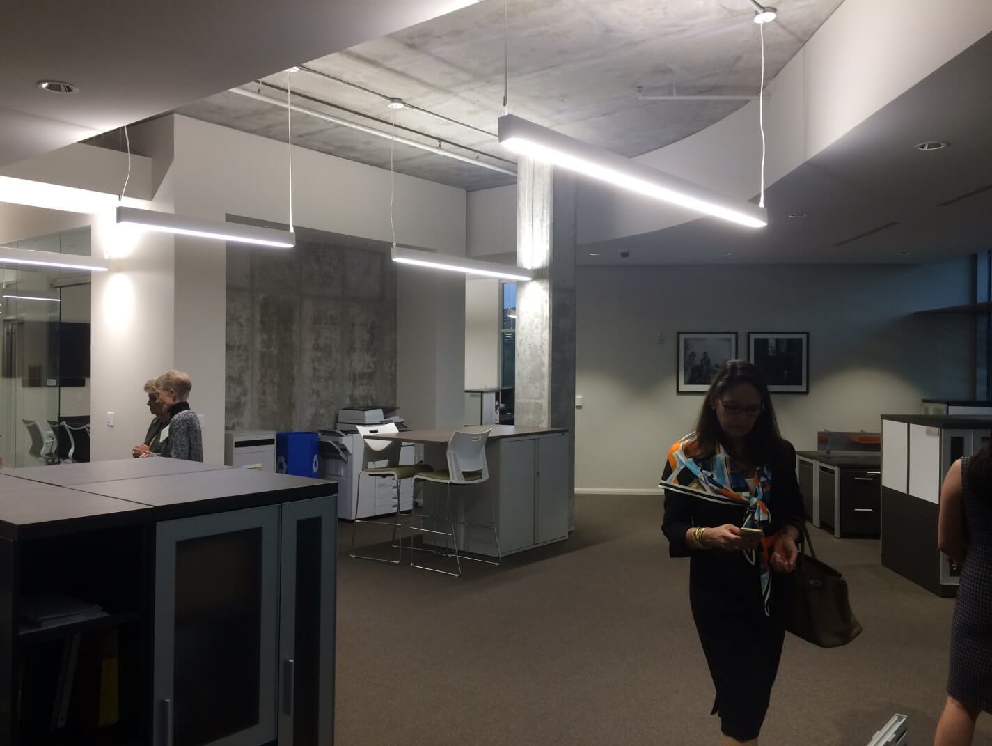 Open office area at GNOF