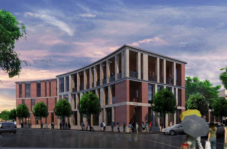Rendering of Greater New Orleans Foundation (GNOF) building